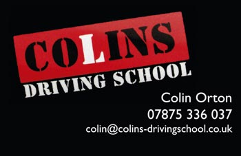 Colins Driving School Business Card
