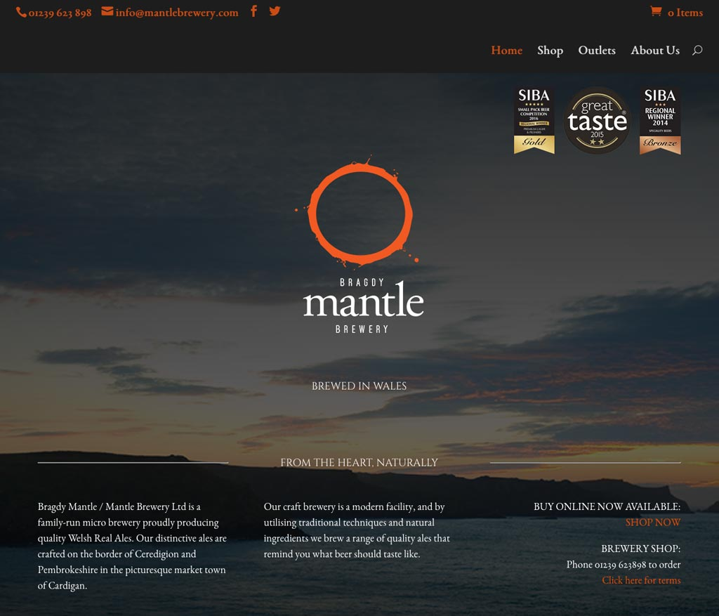 Mantle Brewery website